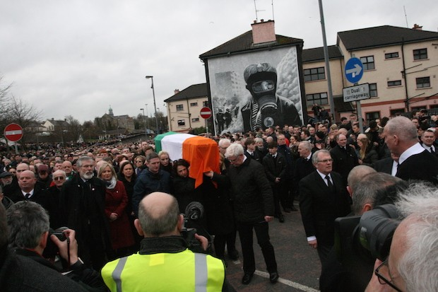 Funeral Free Derry mural