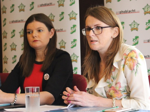 2017 Kathleen Funchion TD and Caoimhe Archibald MLA at the launch