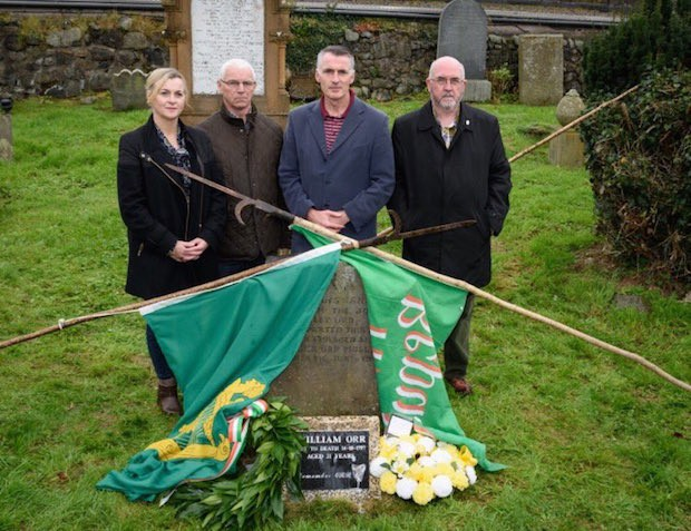 2017 Declan Kearney and South Antrim Sinn Féin at the grave of William Orr