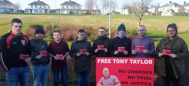 Derry Sinn Féin Republican Youth call for release of Tony Taylor