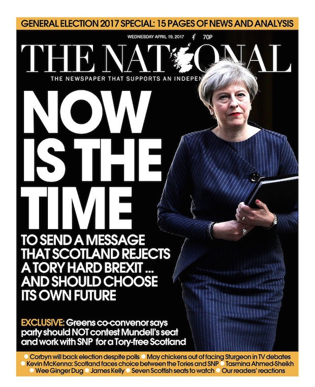 Scot National announcement Now is the Time