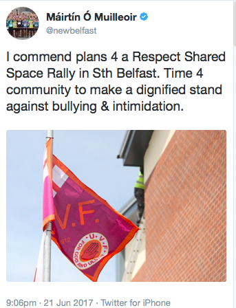 UVF flags June 2017 tweet by MOM