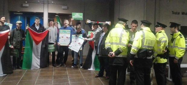 Palestine: TCD protest against Israeli Ambassador, Feb 2017
