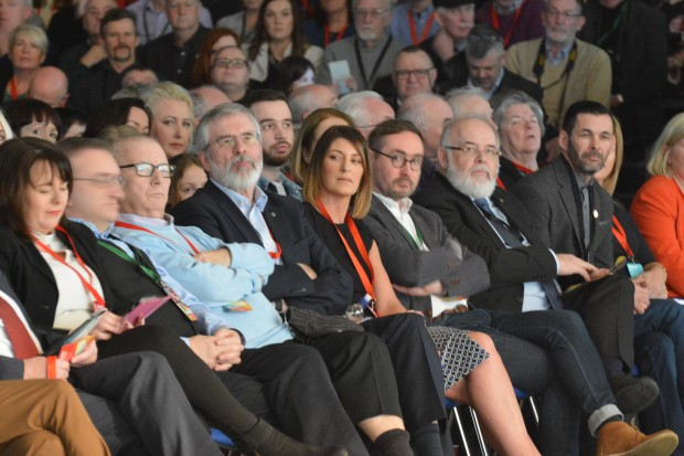 Gerry Adams at the 2018 Special Ard Fheis.