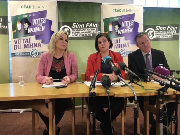 Sinn Féin leaders at Stormont
