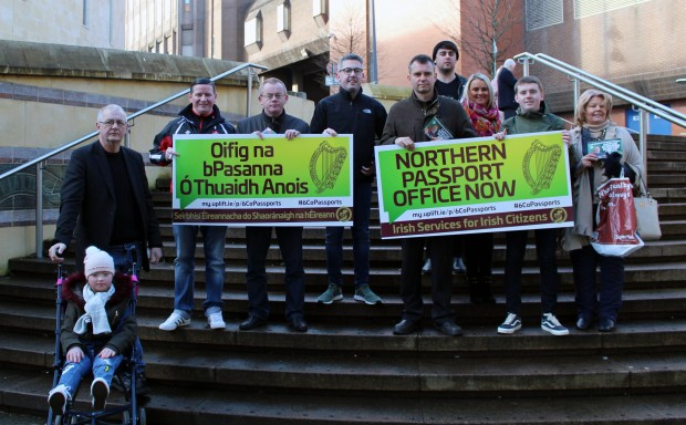 Councillors gathering signatures in Derry.