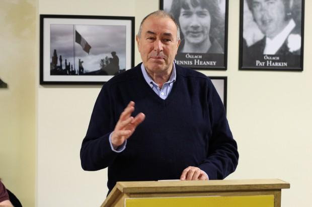 Mitchel McLaughlin addressing the Derry Sinn Féin AGM.