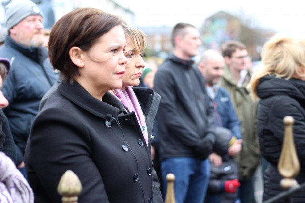Sinn Féin President-elect Mary Lou McDonald and Martina Anderson at the annual Bloody Sunday memorial service.