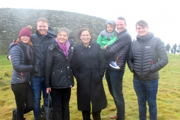 Mary Lou McDonald joined the McGuinness family for the launch of the walk.