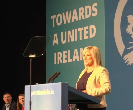 Sinn Féin Vice President Michelle O'Neill.