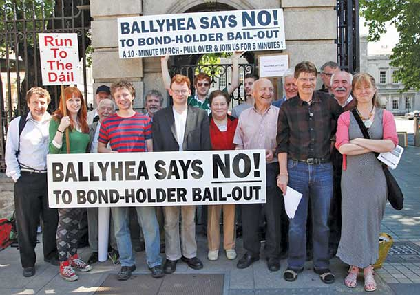 Ballyhea protest at Leinster House
