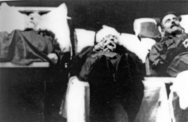 The bodies of some of the civilians killed by the RIC in Belfast in the 1920s
