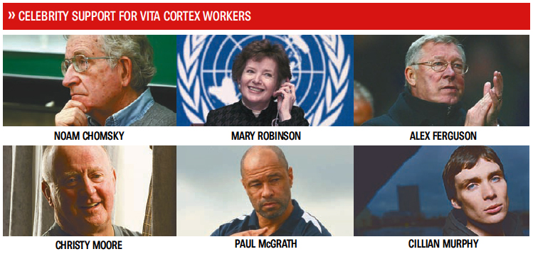 Celebrity support for Vita Cortex workers