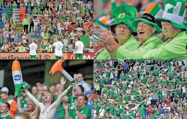 Irish fans at Euro 2012