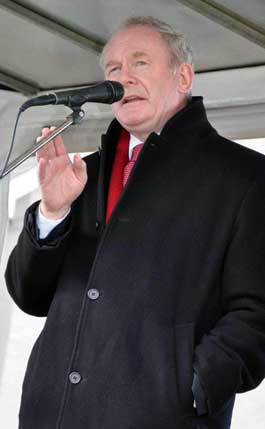 Martin McGuinness at Cappagh
