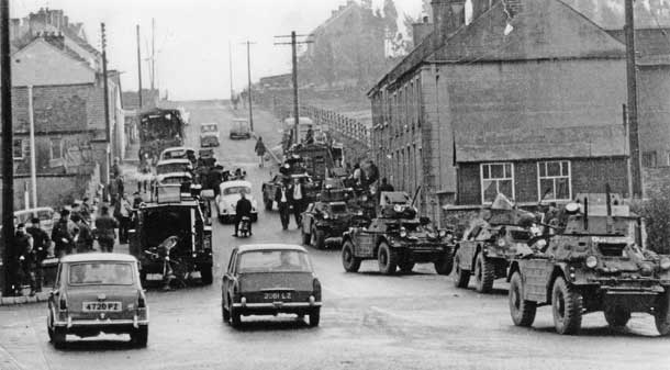 Operation Motorman: British armoured vehicles invade the nationalist town of Coalisland, County Tyrone