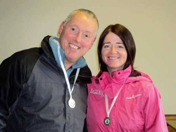 Seán Lynch MLA and Councillor Bronwyn McGahan took part in the climb