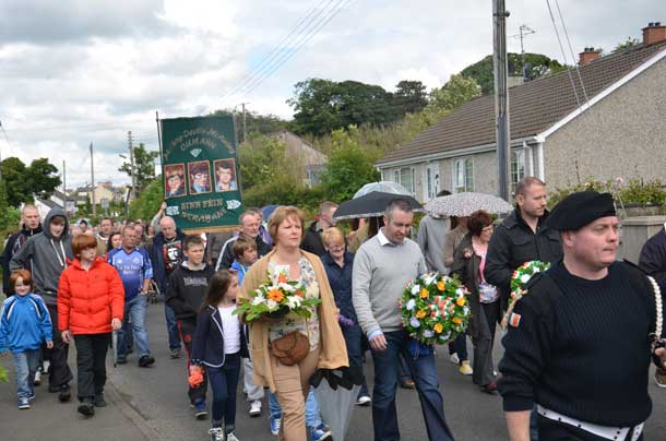 The Tobias Molloy commemoration parade makes its way to Donneyloop