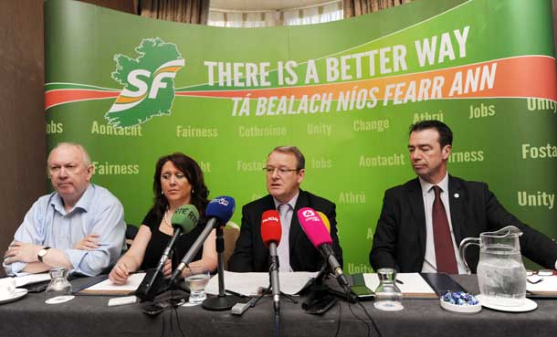 Unite's Jimmy Kelly, SPARK's Louise Bayliss, Sinn Féin's Brian Stanley TD and Mandate's John Douglas all called on Government TDs to vote in favour of the Sinn Féin Repeal Bill