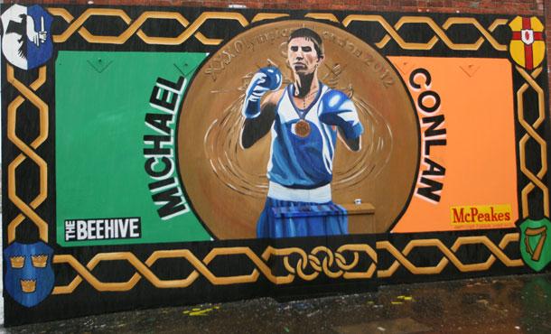 Ireland's Olympic medalist Michael Conlan Mural