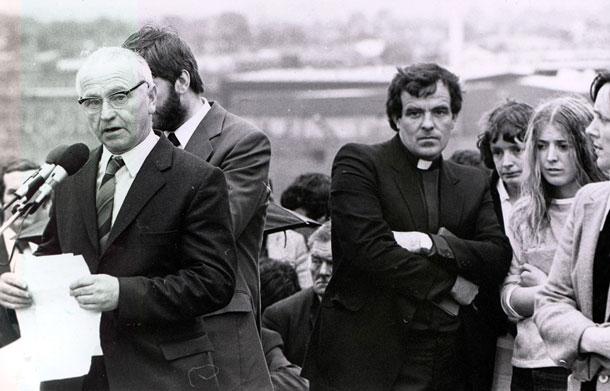John Joe at Joe McDonnell funeral