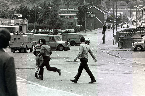 Rioting after Joe McDonnell funeral