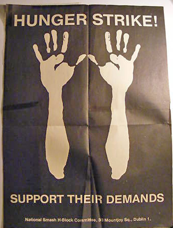 Hunger Strike poster hands