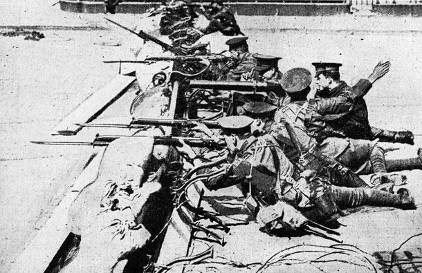 1916 British Army barricade