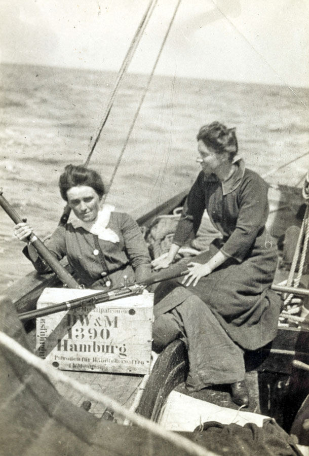 Molly Childers and Mary Spring Rice aboard the Asgard