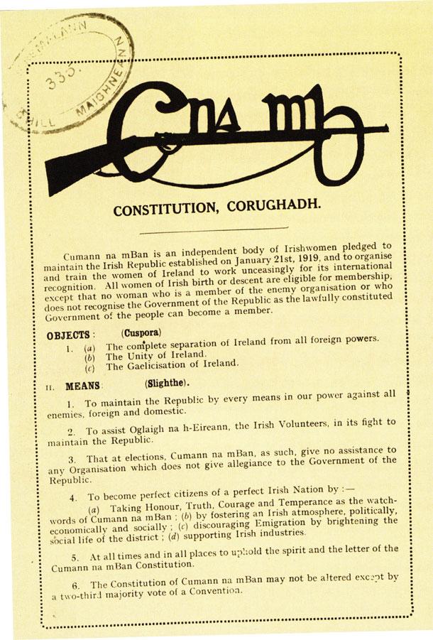Cumann na mBan constitution