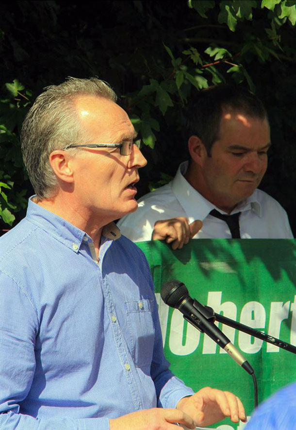 Gerry Kelly MLA, the main speaker