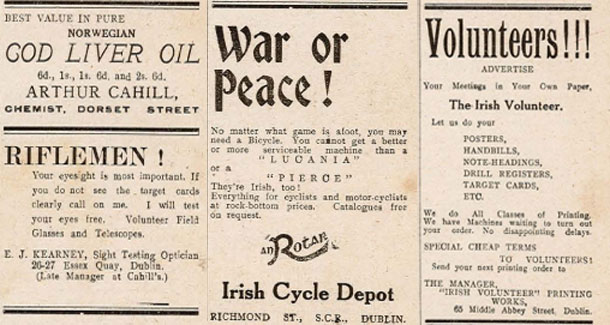 Irish Volunteer issue 1 no 9 adverts