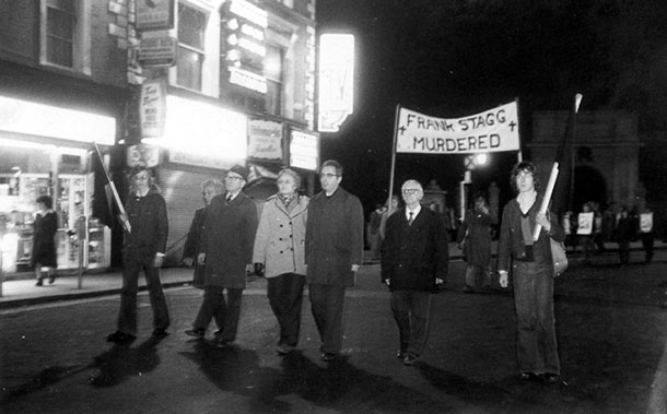 Protest in Dublin after Frank's death
