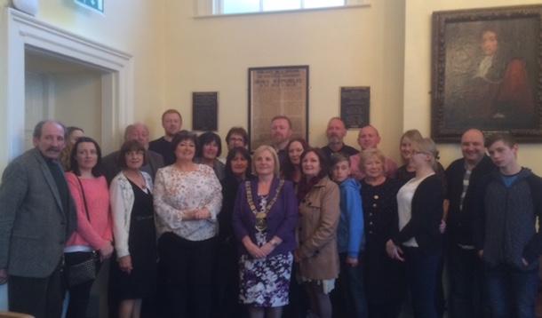 Richard O'Carroll's family at Dublin City Hall