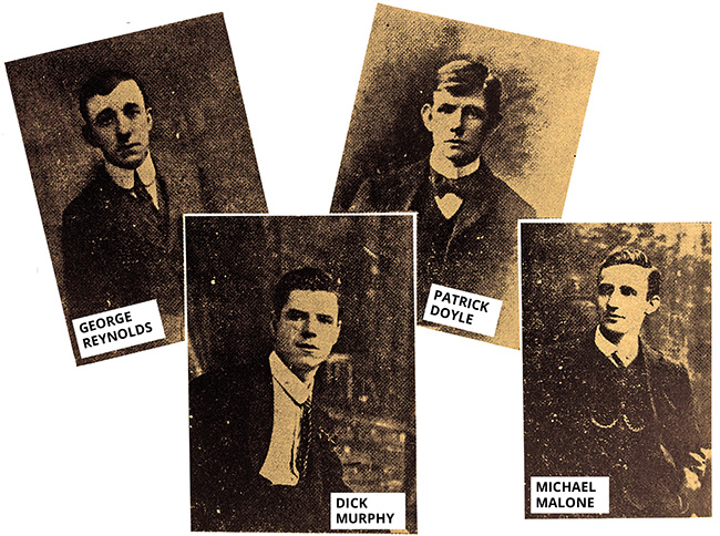 four Volunteers who lost their lives in the battle