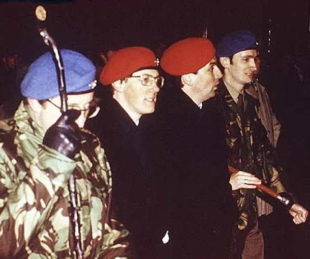 Ulster Resistance included members of the DUP leadership in military-style displays
