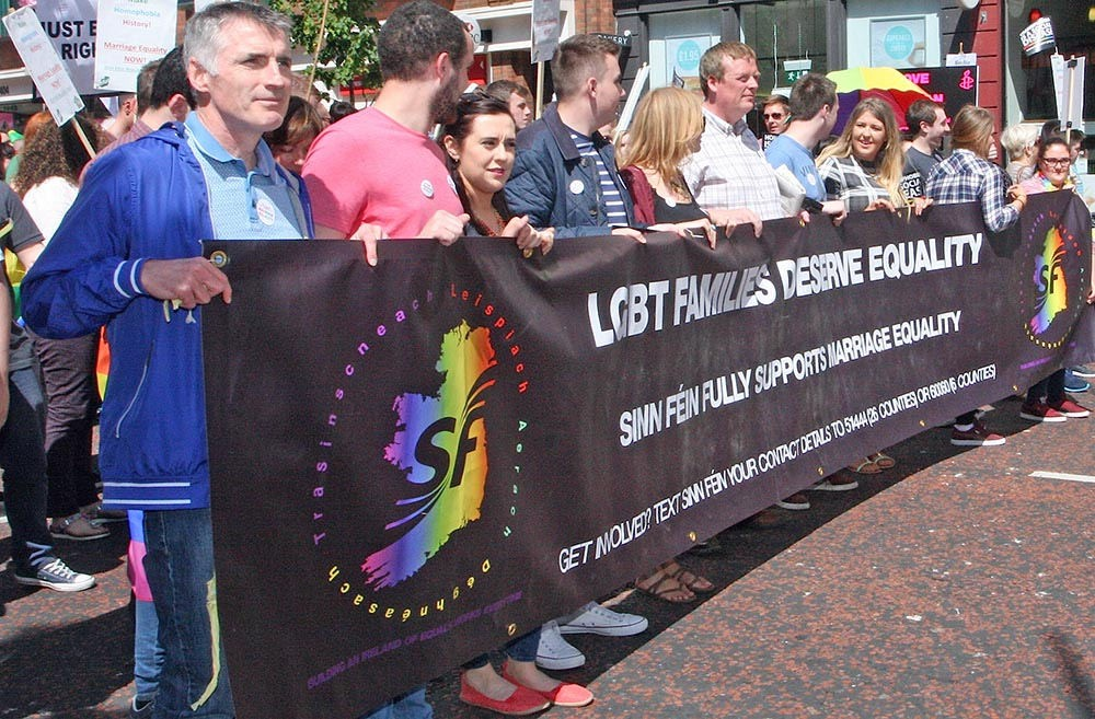 Sinn Féin supporting marriage equality.