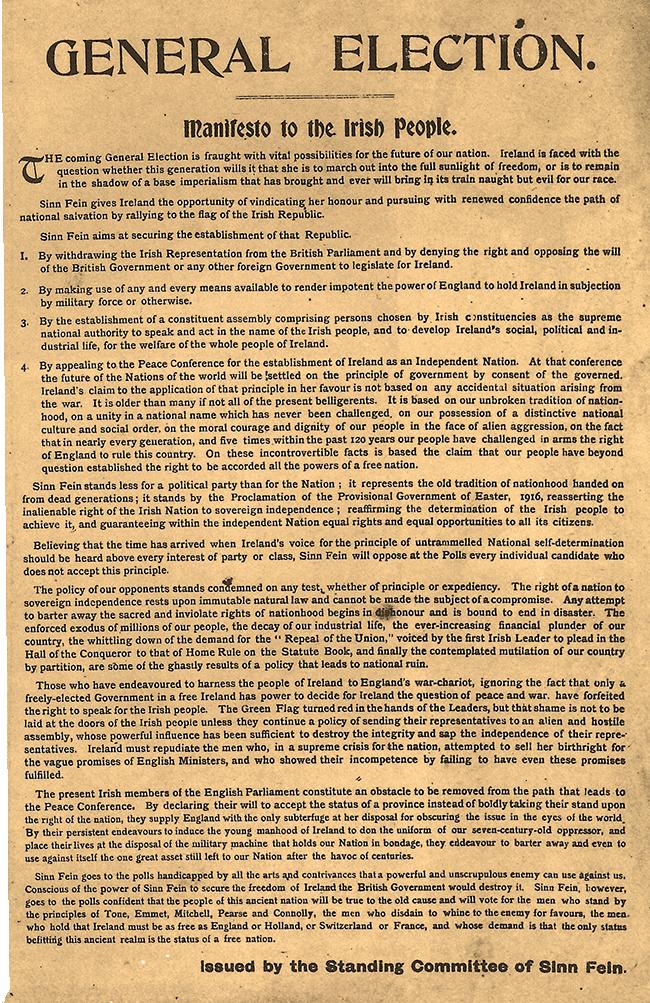 1918 SF manifesto