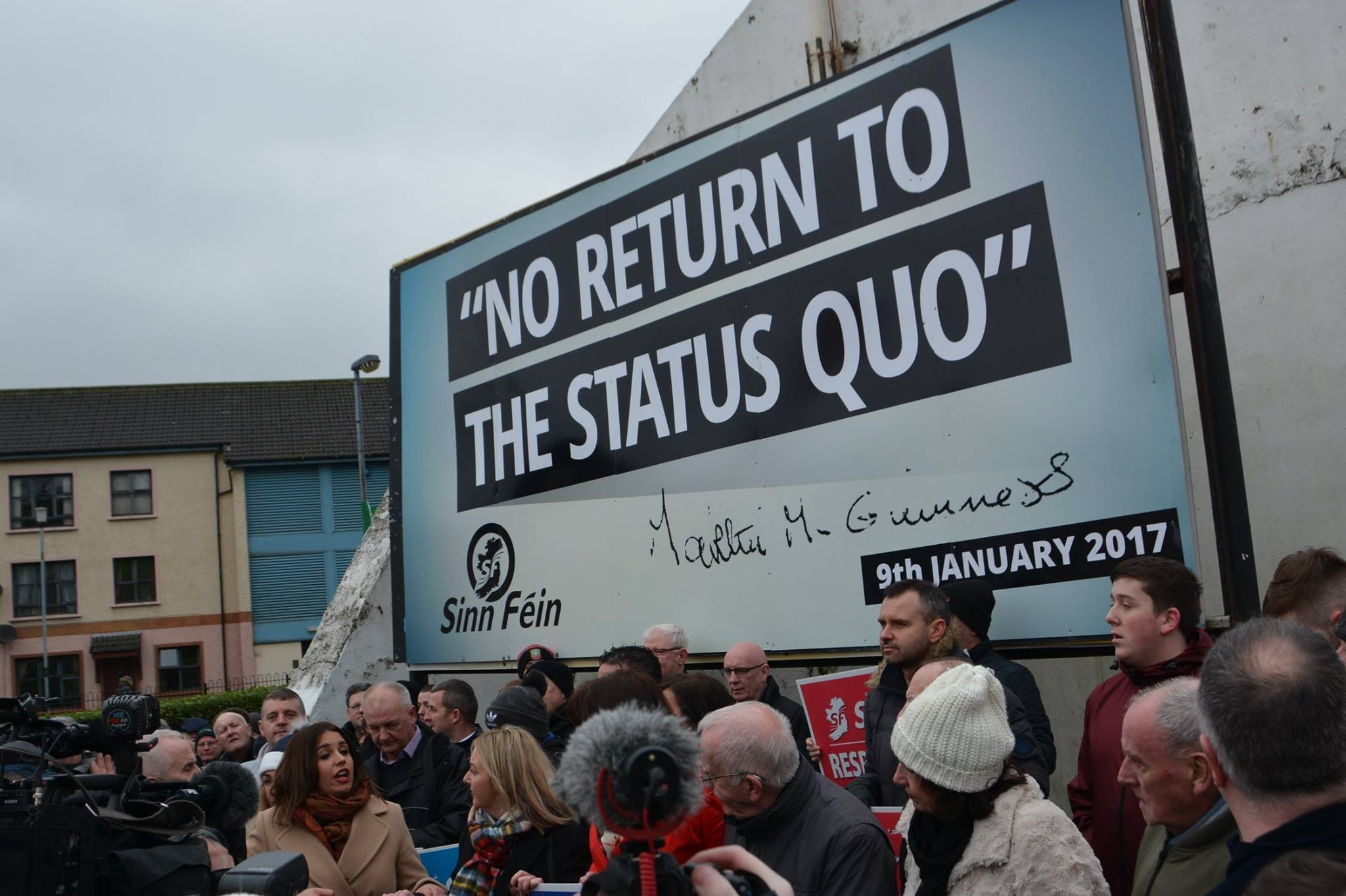 No Return to the Status Quo mural unveiled at Free Derry Corner.