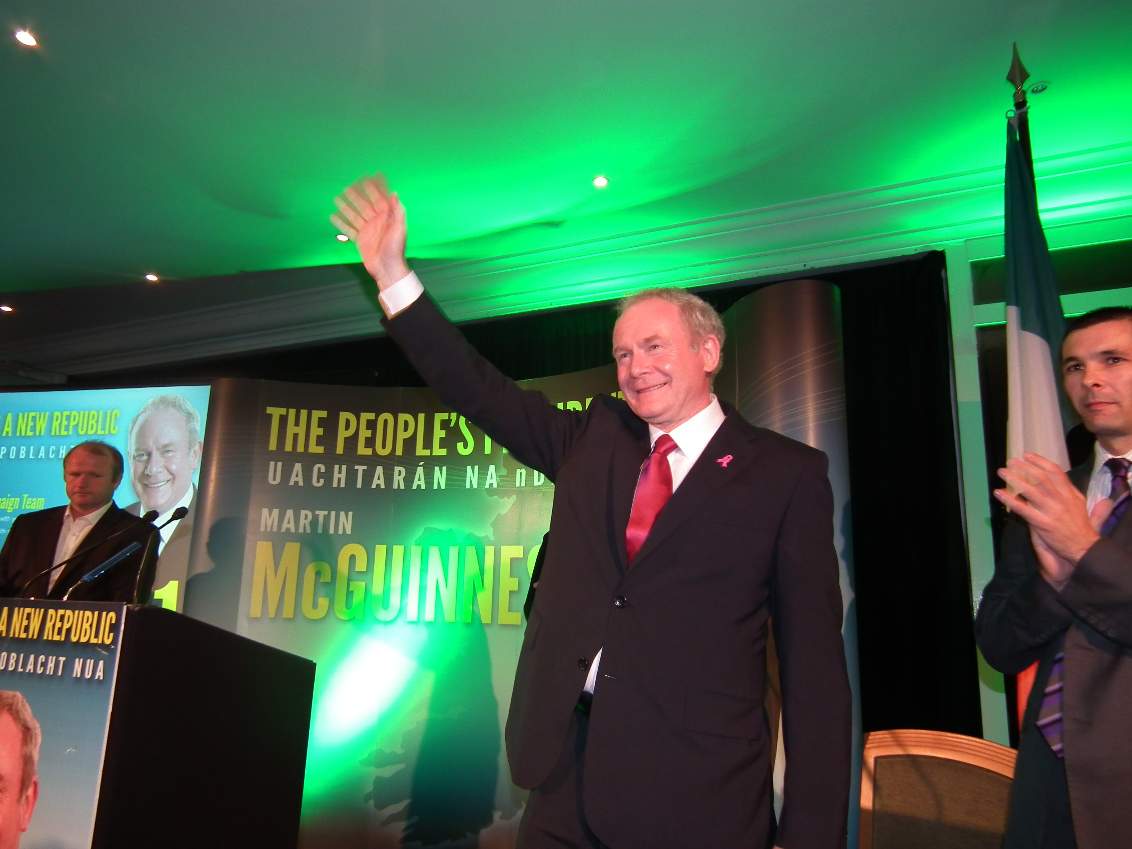 Martin McGuinness during the presidential election campaign.