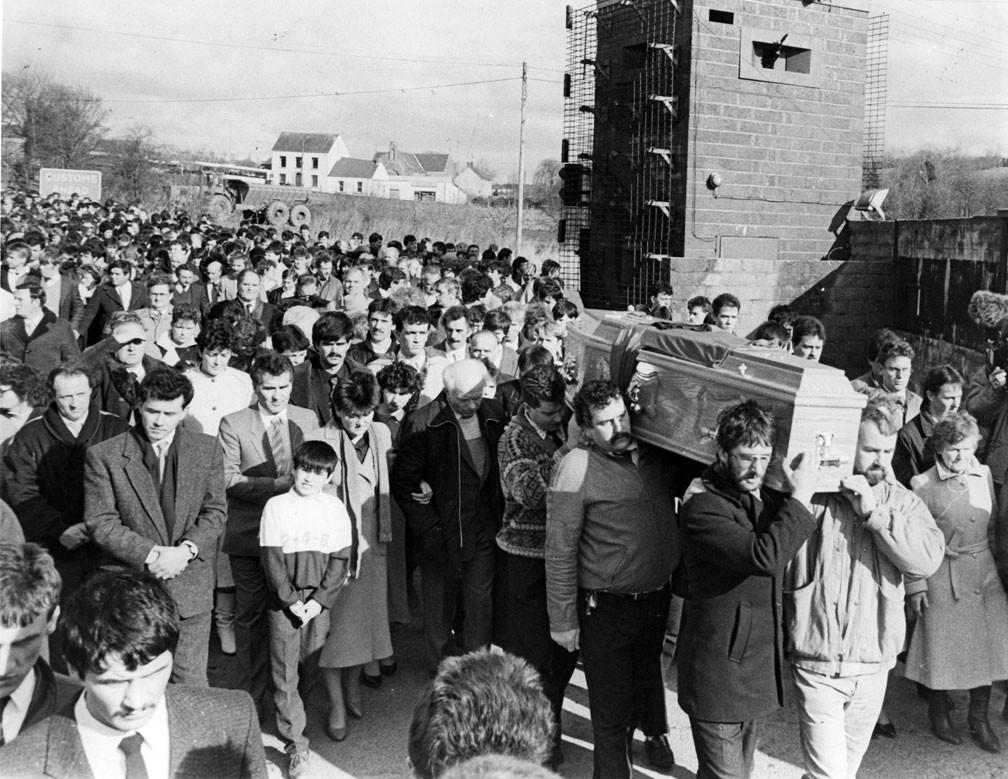 Aiden McAnespie's funeral in 1988.