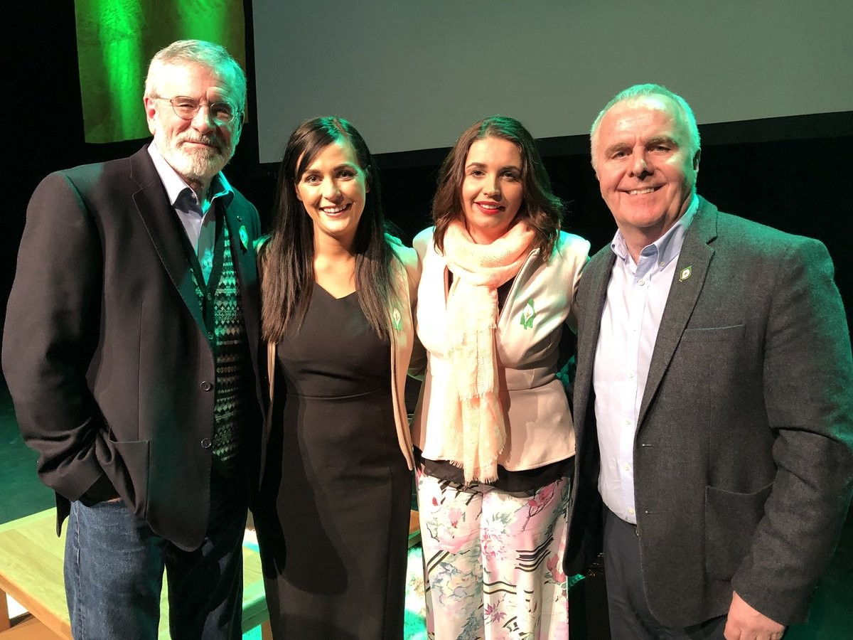 Gerry Adams, Orfhlaith Begley, Elisha McCallion and Raymond McCartney.