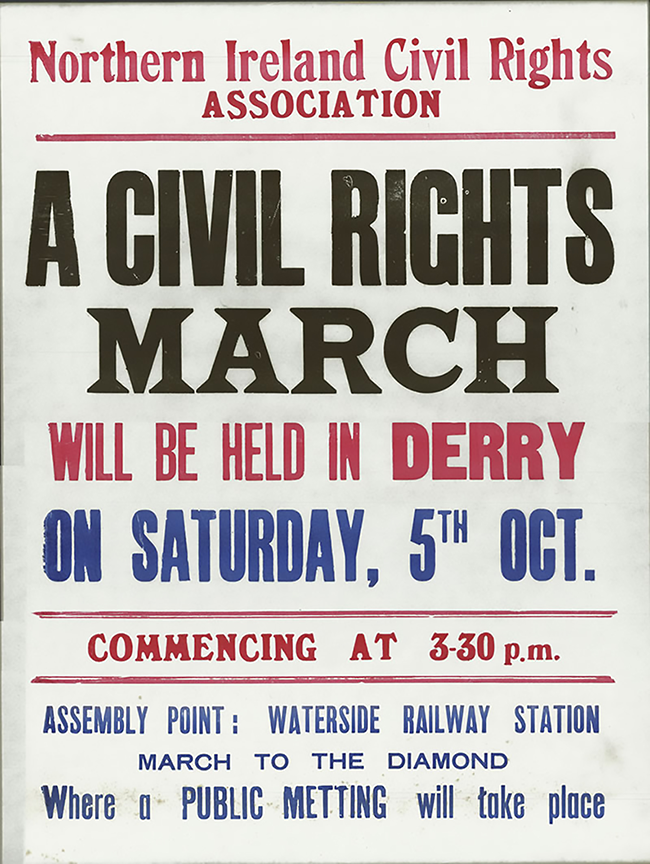 Derry Duke St march poster