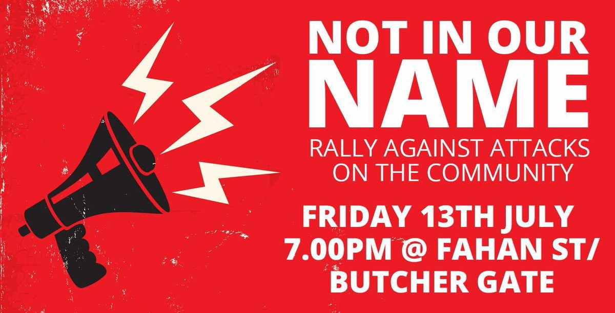 Poster for tonight's rally.