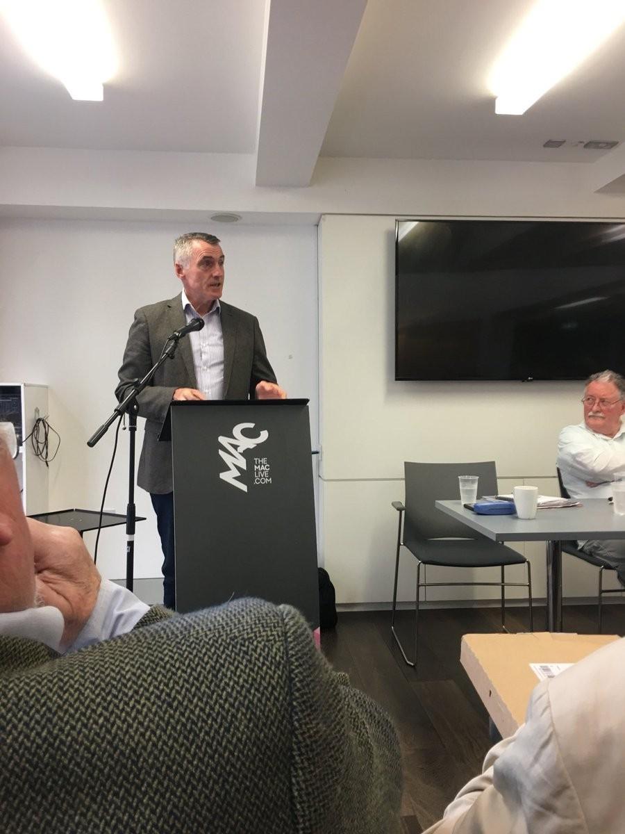 Declan Kearney addressing the William Walker event.