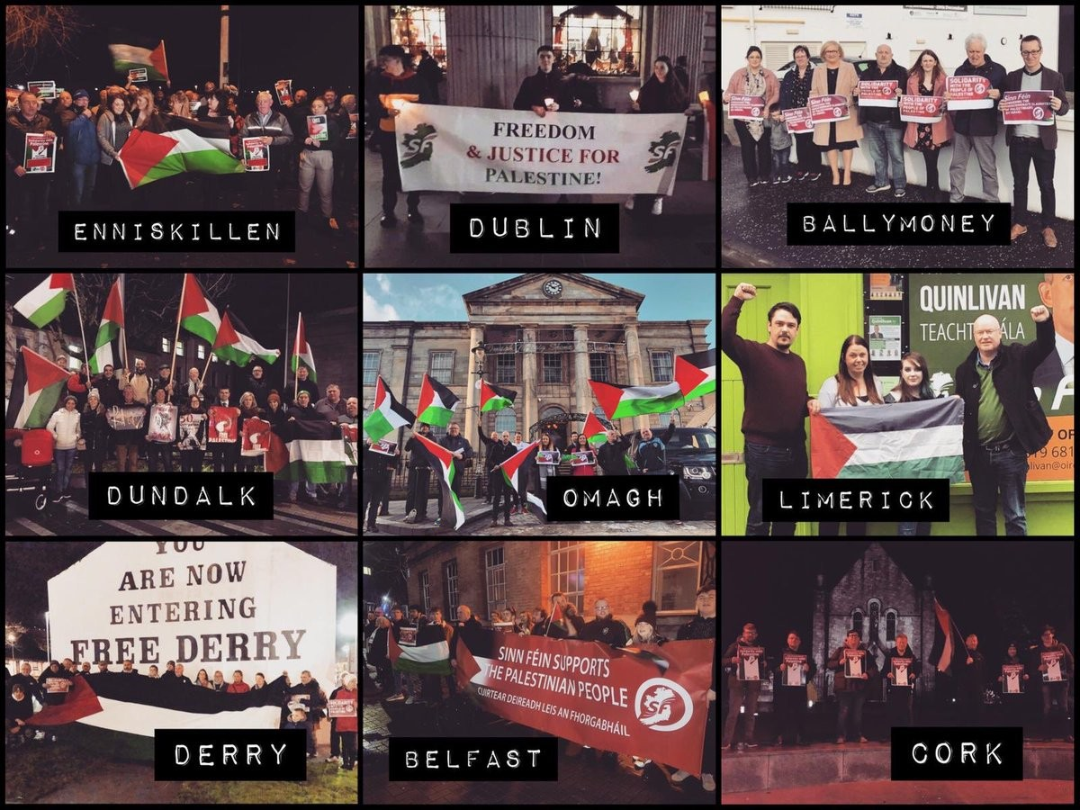 Solidarity demonstrations across Ireland