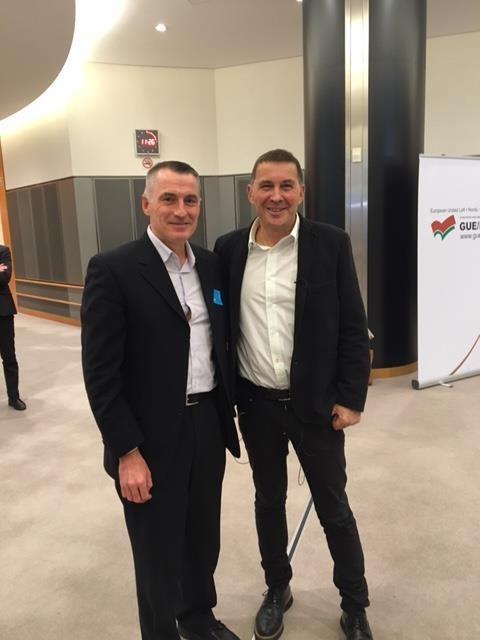 Declan Kearney and Arnaldo Otegi