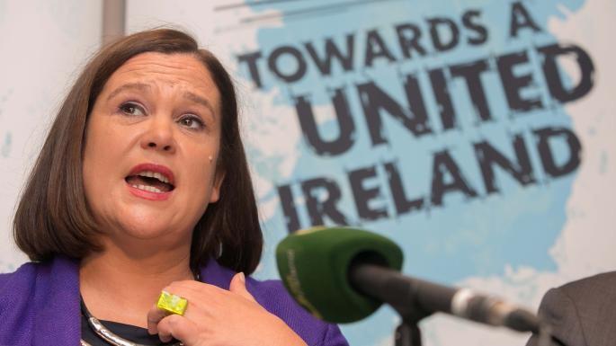 Mary Lou McDonald cals for a unity referendum.
