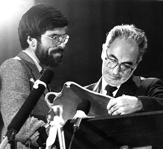 1983 Gerry Adams and Ruairí Ó Brádaigh