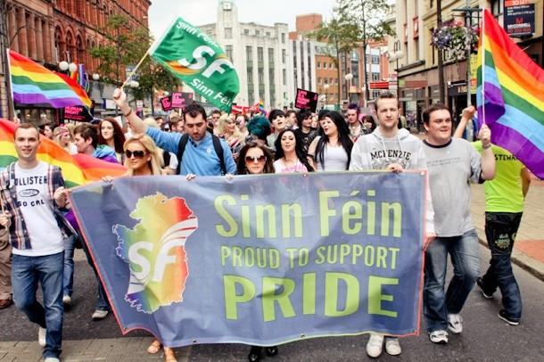 Sinn Féin Pride march